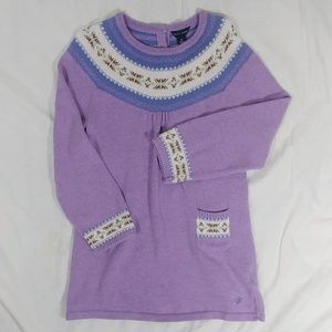Tommy Hilfiger Lavender Fair Isle Sweater Dress 4T